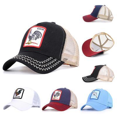 Dragon Art Pattern Fashion Adjustable Cotton Baseball Caps Trucker Driver Hat Outdoor Cap Black