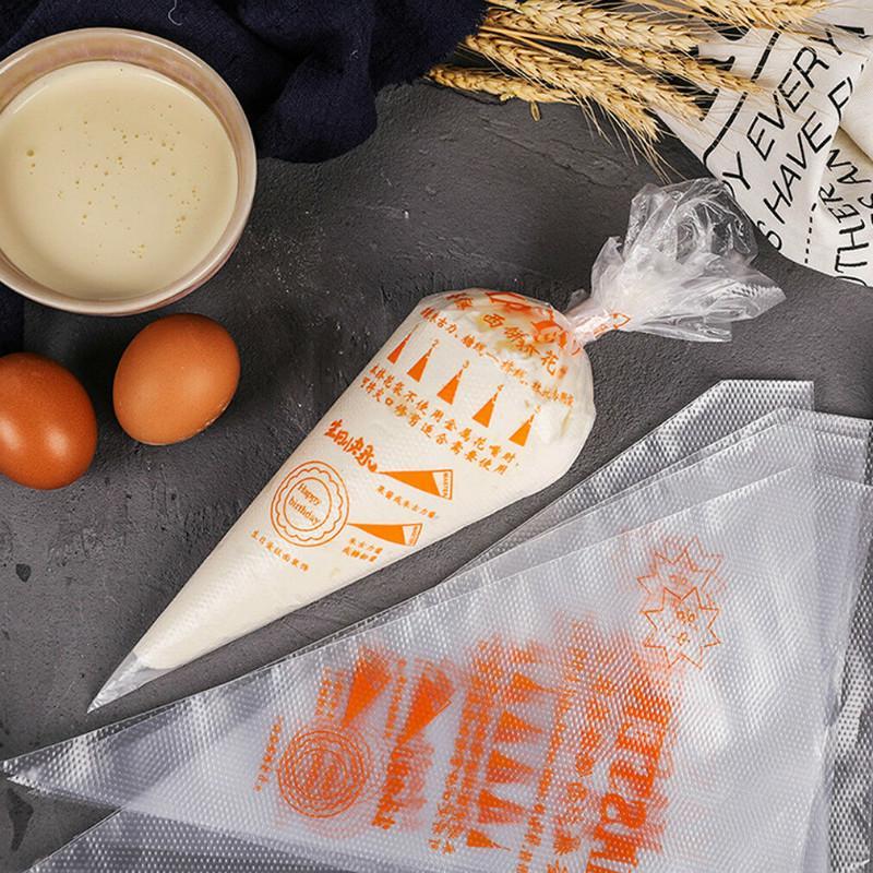 100 ШТ Пластиковые одноразовые обледенение трубы Кондитерские мешки Торт Украшающий инструмент 3 Размер фото