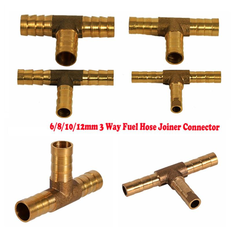 Gas Oil 6mm Brass Straight Connection Hose Connector Gold Brass,Gold