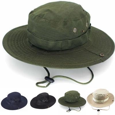 d90adee90 Fashion Unisex Adult Outdoor Sports Wide Brim Boonie Hat Cap Fishing ...