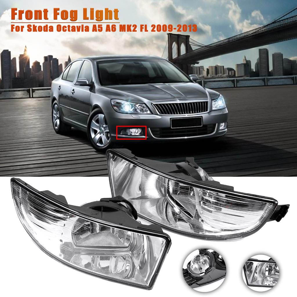 Car Bumper Driving Fog Light Lamp Clear Lens For Skoda Octavia A5 A6 Mk2 Fl 2009 2010 2011 2012 2013 Buy At A Low Prices On Joom E Commerce Platform