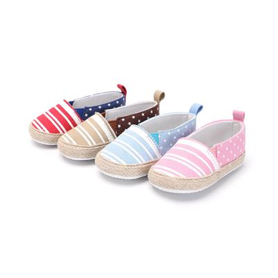 Toddler Girls Dot Strip Bowknot Summer Sandals Soft Sole Anti-Slip Baby Shoes