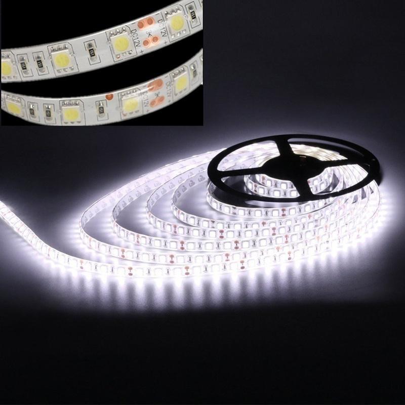 Super Bright 2835 SMD 120//300 LEDs Strip Light Flexible Cool White Lamp DC12V