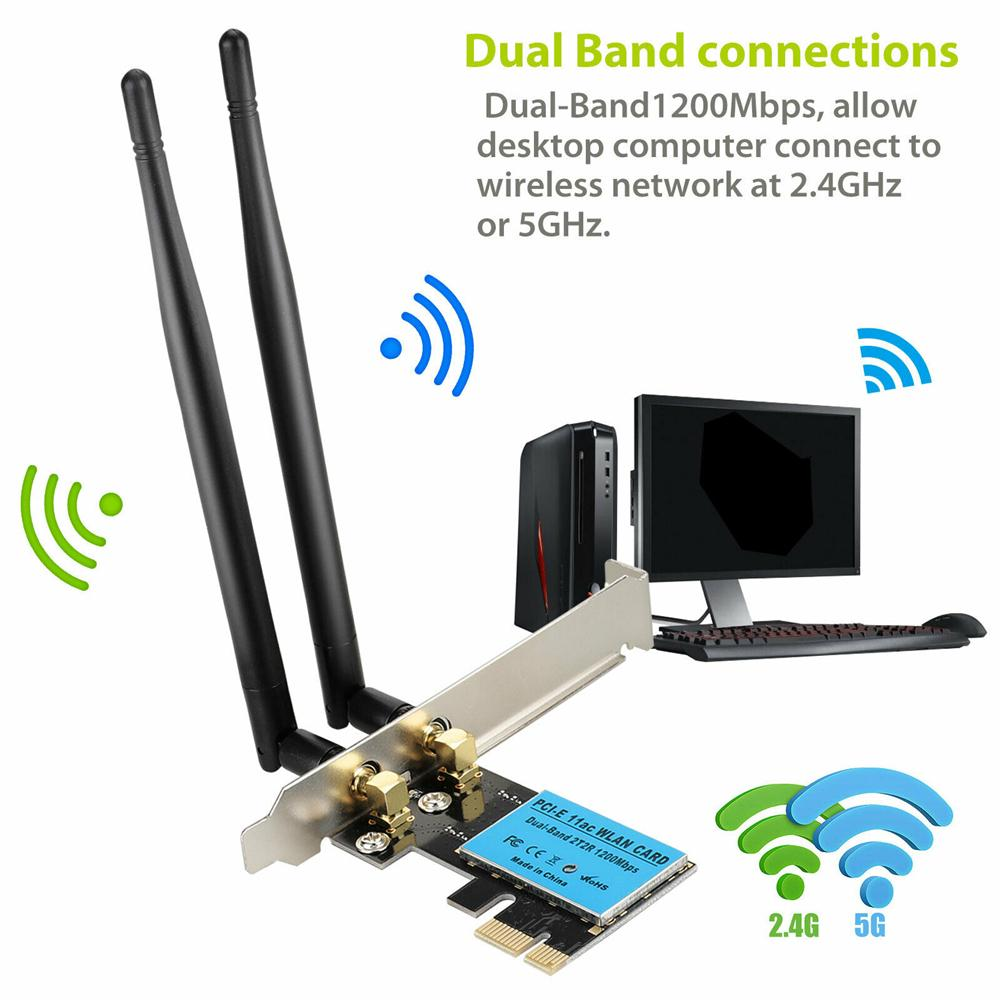 Home Office PCI E 200 Antenna PICE 200.20G/20G WiFi Card Networking Network  Adapter Network Cards buy at a low prices on Joom e commerce platform