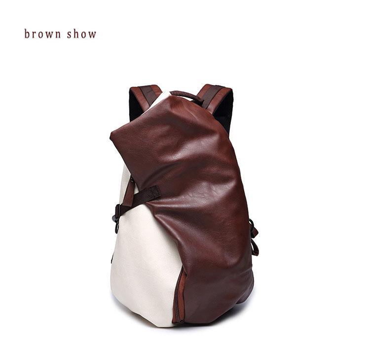 3561dd813639 BAIJIAWEI Мужской кожаный рюкзак из полиуретановой кожи в ретро стиле