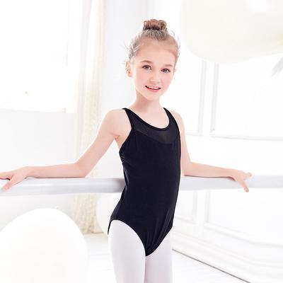 Lace Kids Children Girl Dance Leotard Stretch Bodysuit Ballet Training Dress Top