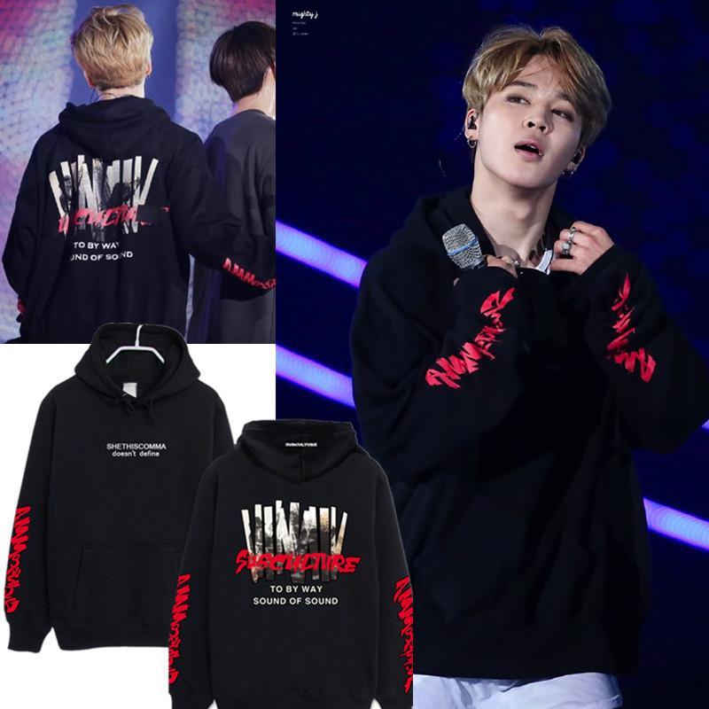 BTS Sweatshirt Концерт с тем же окружающим капюшоном Sweatshirt Мужчины и женщины Sweatshirt Топы купить недорого — выгодные цены, бесплатная доставка, реальные отзывы с фото — Joom