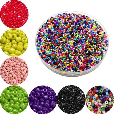 1000pcs/lot 2mm Glass Beads Round Spacers For Jewelry Making DIY