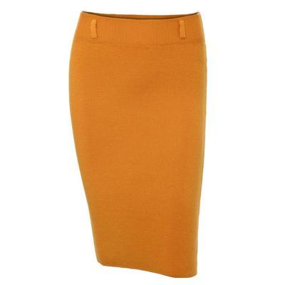 Primavera Casual mujeres cintura rodilla punto lápiz faldas falda larga  delgada elegante 5 colores f62487da8362