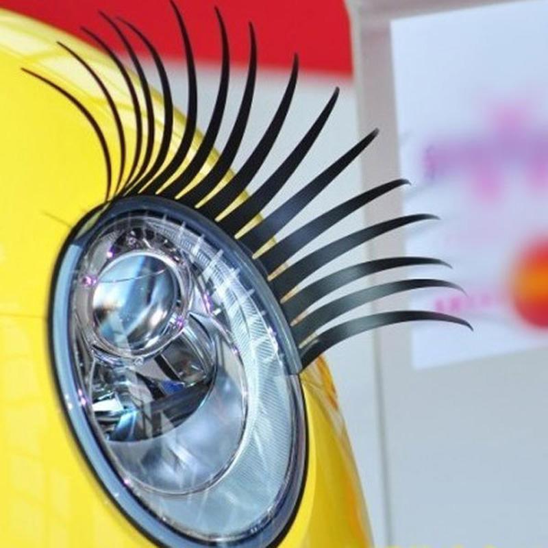 Fashion Car Styling Decal Black Eyelashes Vehicle Car Headlight