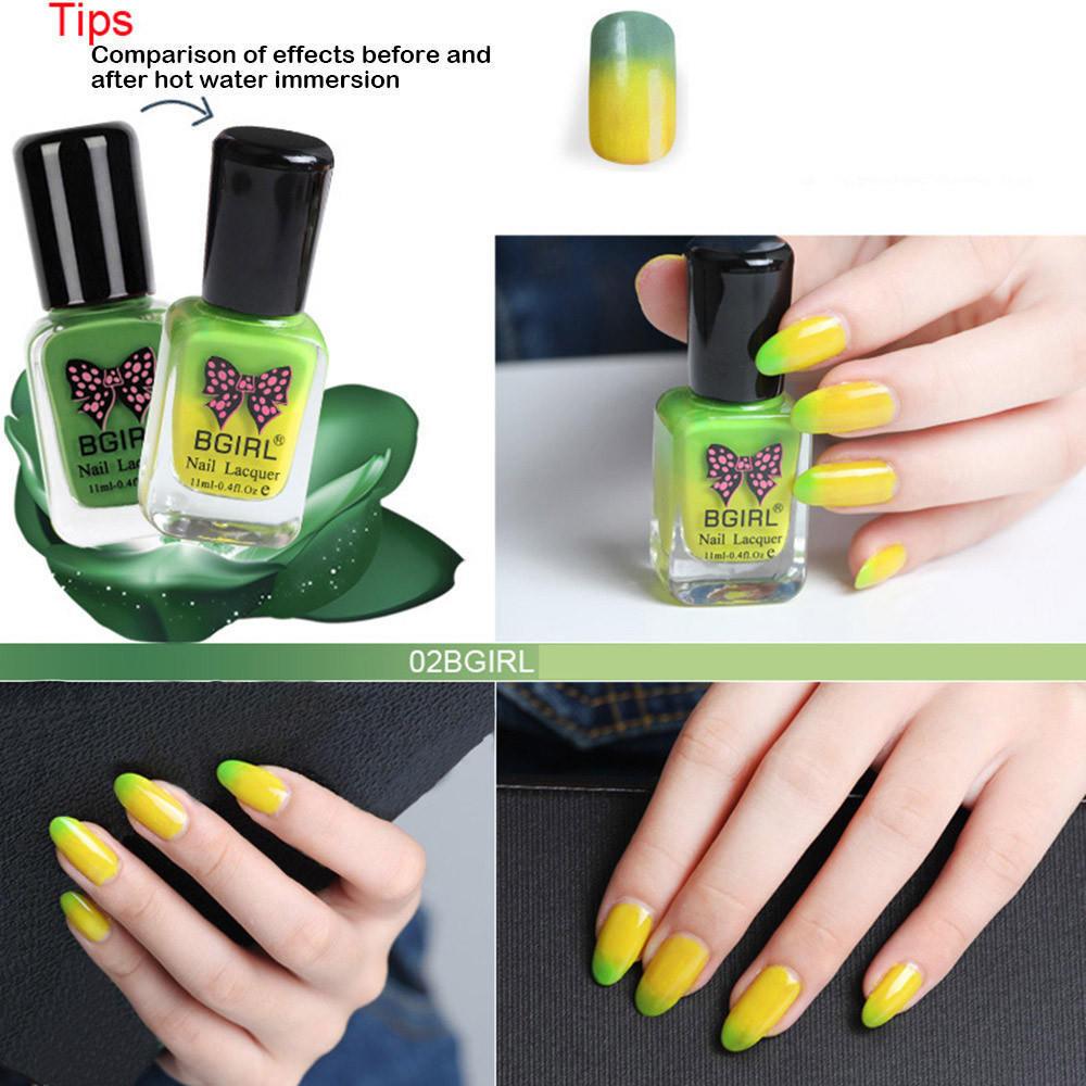 11 ml camaleón temperatura Color cambio LED UV Soak Off esmalte de ...