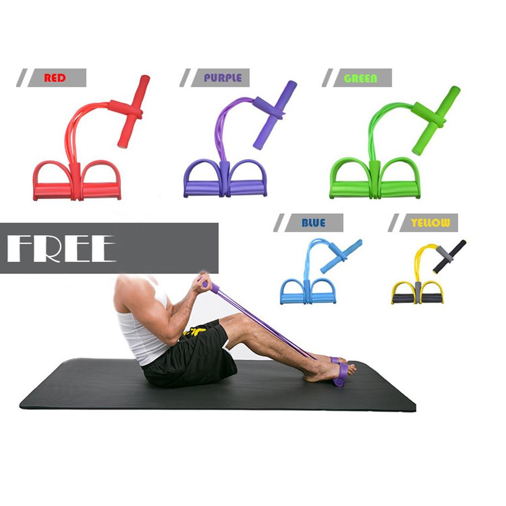 Sit-up Bodybuilding Expander Premium 2019 Multi-Function Tension Rope Fitness Pedal Exerciser Rope Pull Bands Upgrade 4 Tubes Multifunction Leg Exerciser
