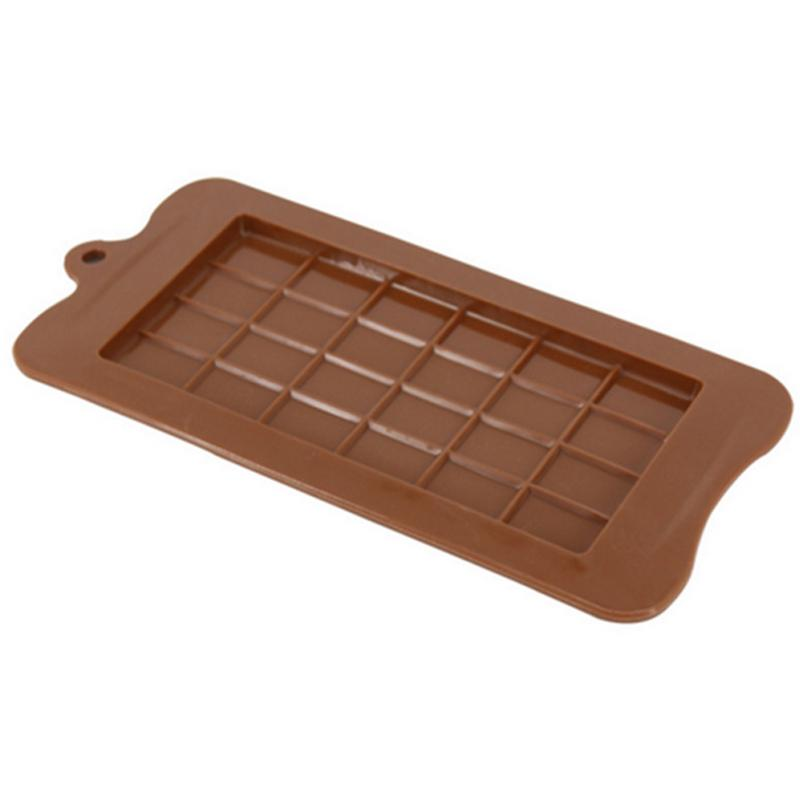 24 Cavity Baking Tool Chocolate Candy Maker Sugar Mould Bar Block Ice Tray DIY