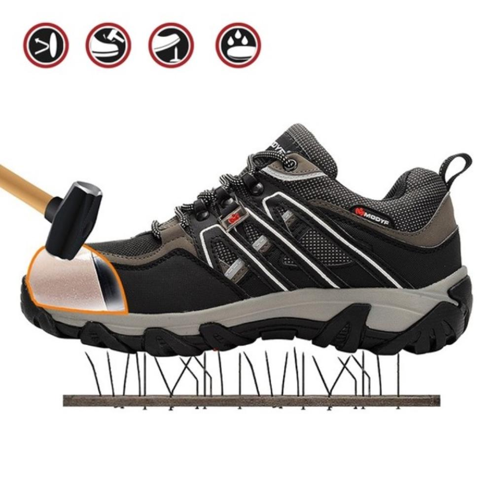 Mens Safety Shoes Steel Toe Work Boots WomenS Athletic Hiking Shoes Breathable