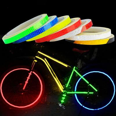 Bike Bicycle Car Motorcycle Wheel Rims Light Reflective Stickers Decals Tape