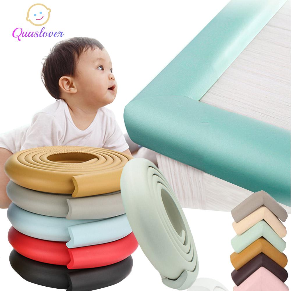 Green Table Protector Bumper 2M Kids Baby Safety Rubber Bumper Strip Table Edge Safe Corner Guard Proofing Corner Guards Soft Foam Corner Cushion Bumper for Furniture at Home /& Nursery