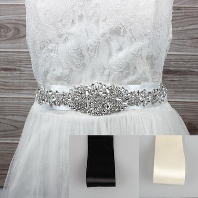Bridal Belts Rhinestone Wedding Dresses Belts Bridal Gowns Accessories Beading Decorations Buy At A Low Prices On Joom E Commerce Platform