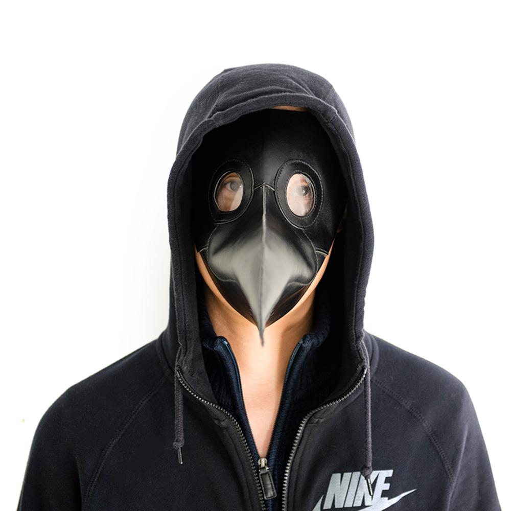 Black Plague Steampunk Half Face Mask Cosplay Gothic Halloween Pumpkin Costume