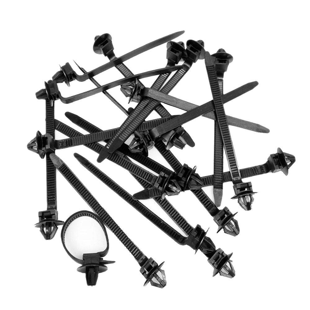 50pcs Nylon Tie Wrap Cable Fixed Fasteners Clips Fastenings Straps for All Cars