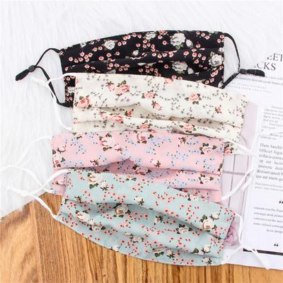 Mouth-muffle Sun Protection Chiffon Mask Summer Thin Face Shield Outdoor Soft Floral