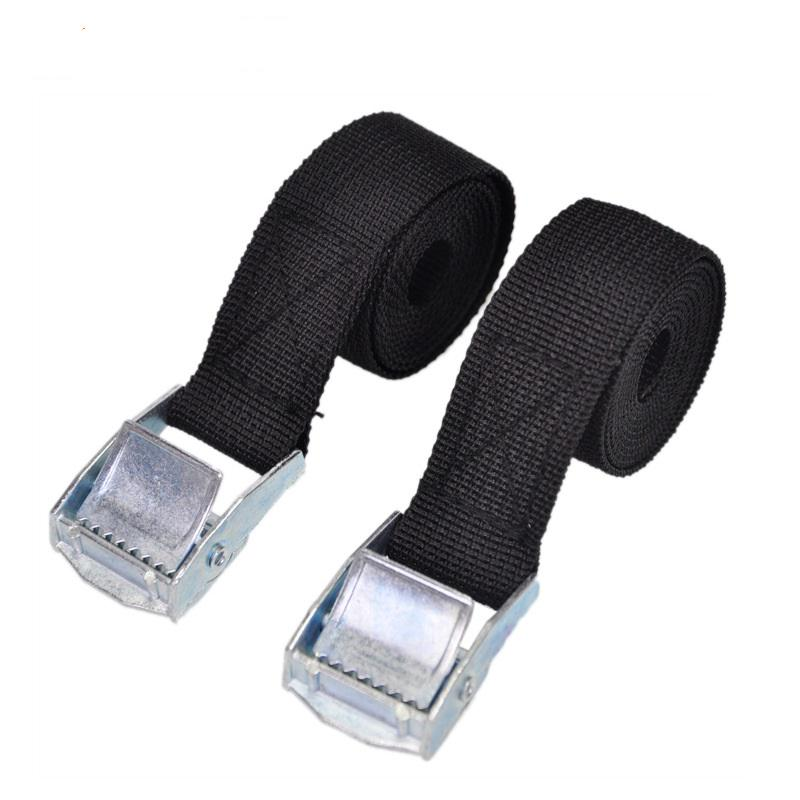2pcs 3M Black Lashing Luggage Buckle Straps Car Tie Down Strap for Roof Rack