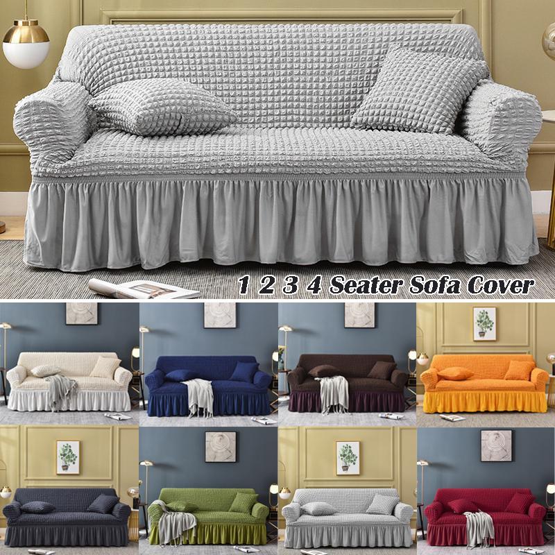 Jacquard Sofa Covers With Skirt, Slip Cover Sofas