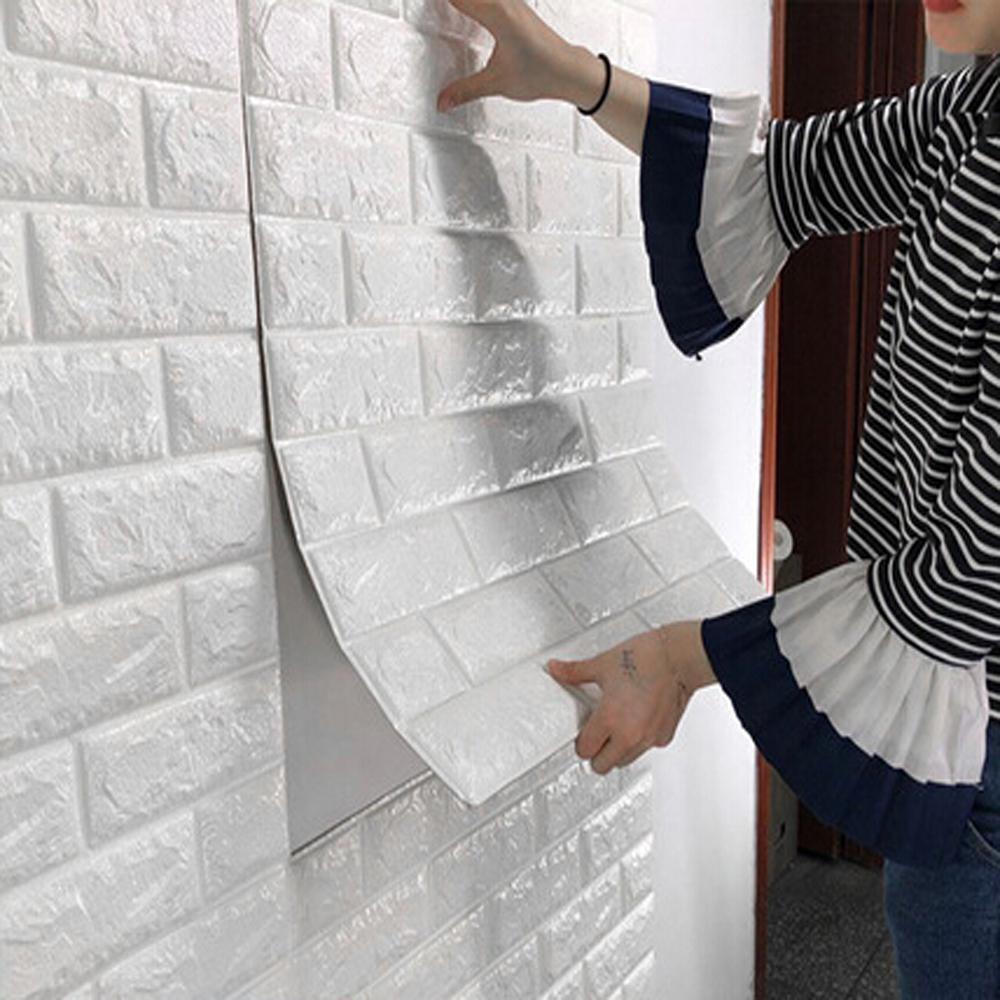 DIY Self Adhensive 3D кирпичная стена наклейки Гостиная Декор