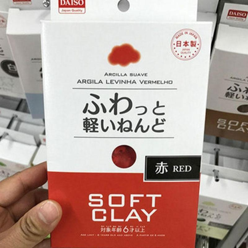 DAISO JAPAN Arcilla Suave Lightweight Modeling AirDry red DIY Soft Clay