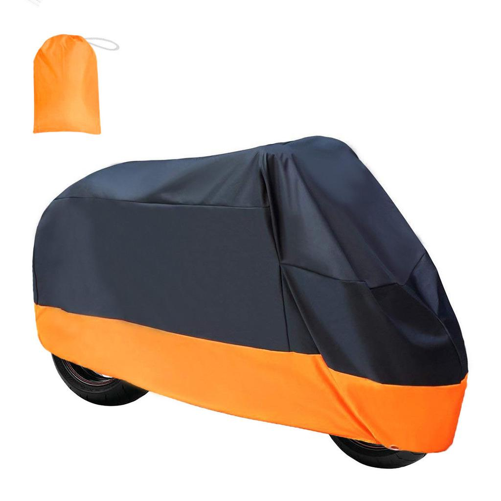 Breathable Waterproof Motorcycle Cover Bike Scooter Dust UV Protection Orange