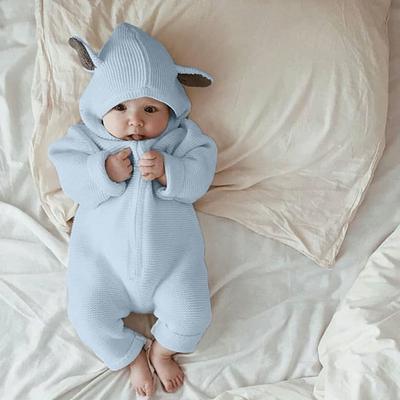 Lindo bebé niño chicas calientes mameluco infantil mono mono con capucha  ropa conjunto 7f707a4067b1