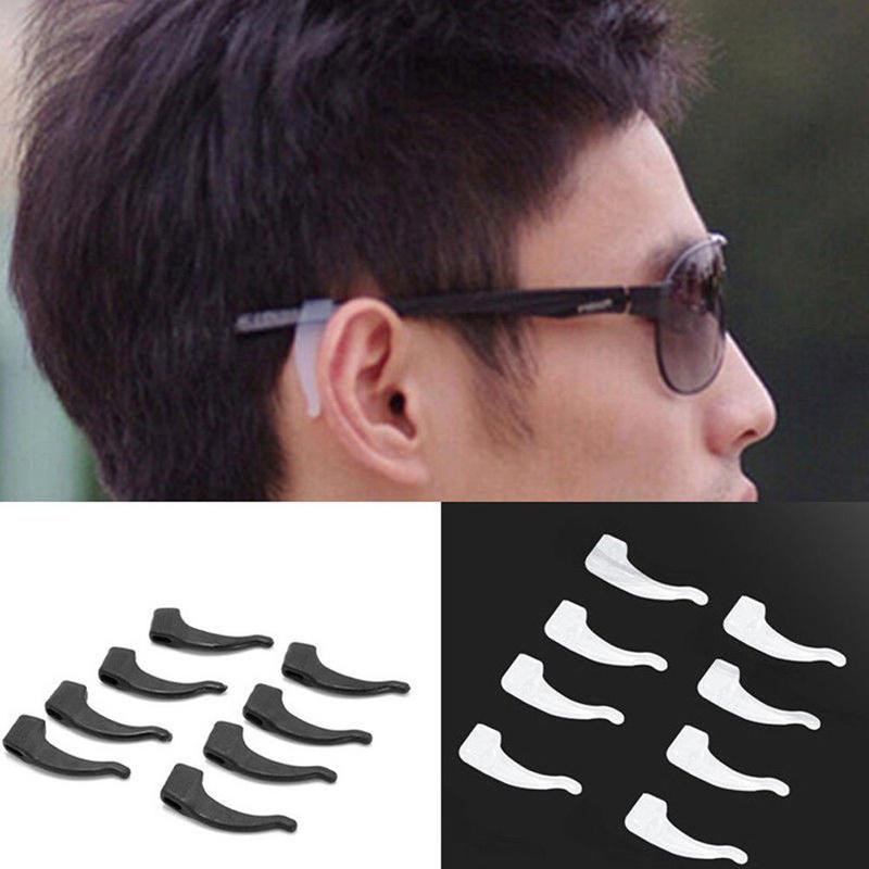 10 Pairs Anti Slip Glasses Ear Hook Transparent Grip Temple Silicone Holder