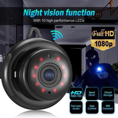 Safe Mini 720P WiFi Wireless Pan Tilt CCTV Network IR Night Vision