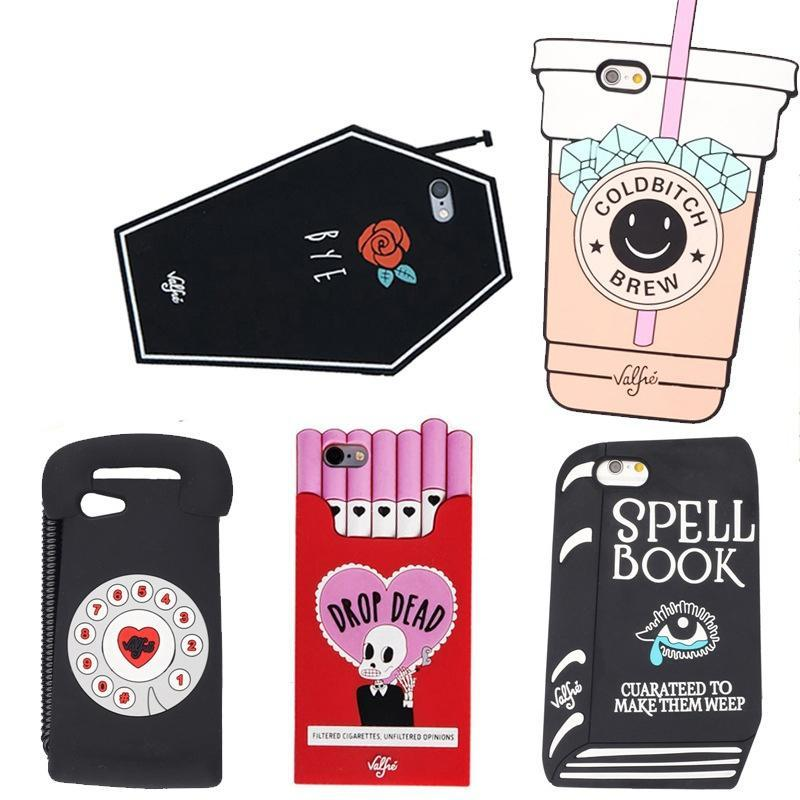 3D Cute Cartoon Soft Silicone Case Cover Back Skin For iPhone 5 6s 7 Plus Gifts