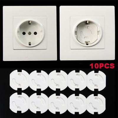 10Pcs Anti Electric EU Plug Socket Cover Shockproof Safety Electrical Outlet Cover For Kids