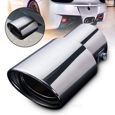 Universal Stainless Steel Car Rear Round Exhaust Muffler Tail Pipe Trim Tip
