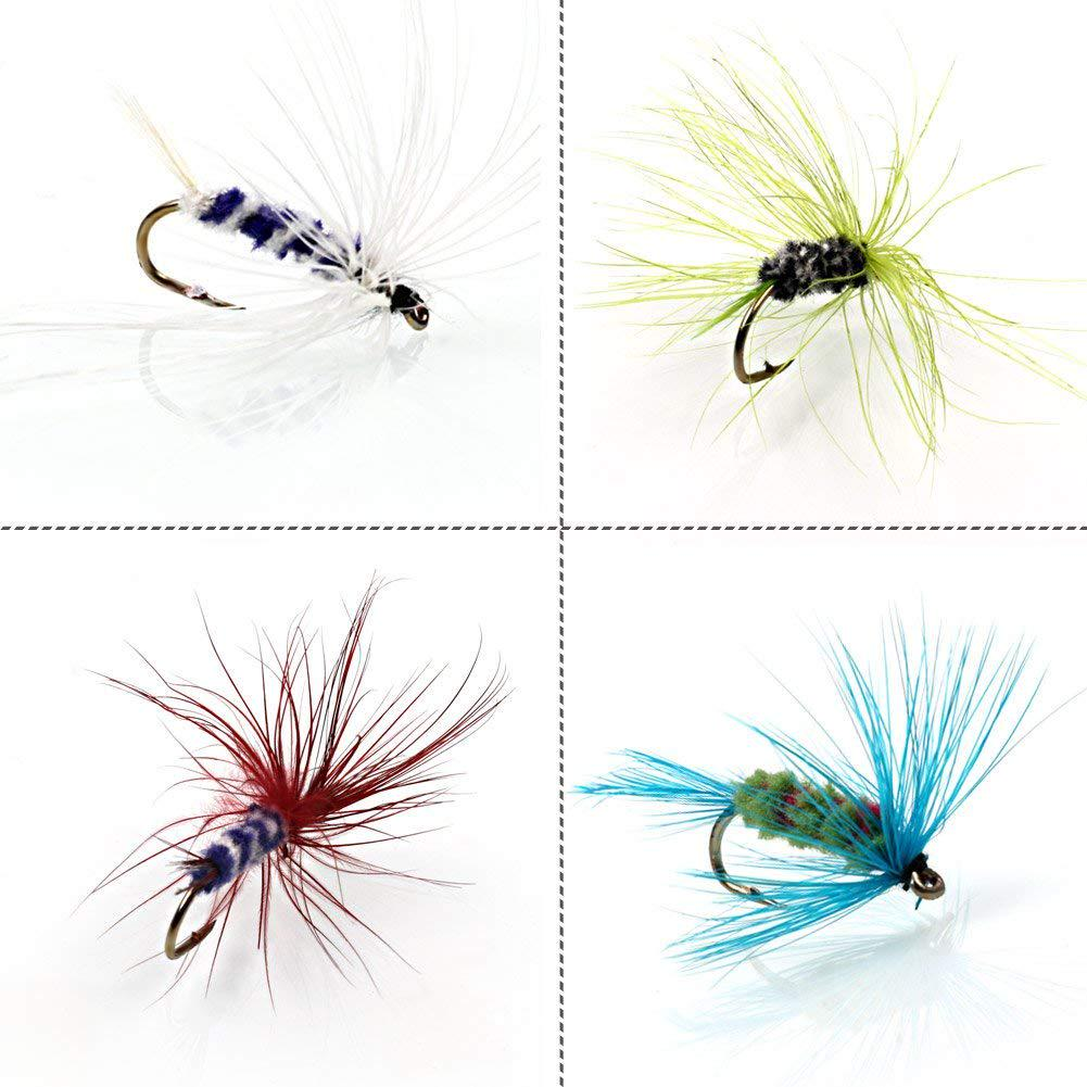Fly Fishing Flies Dry Flies Fish Hook Lures Artificial Coloful Mosquito Lure