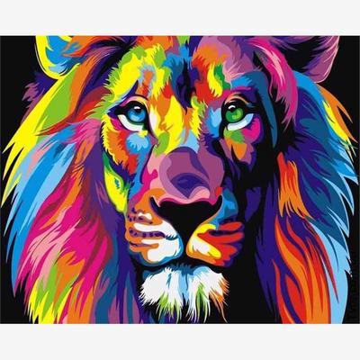 Art DIY 5D Diamond Lion Family Painting Embroidery Cross Stitch Kit Unframed