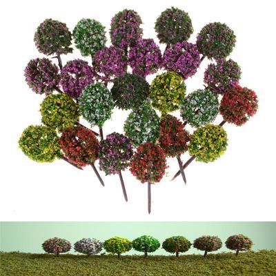 5pcs Miniature Flower Tree Plants Fairy Garden Decoration Dollhouse