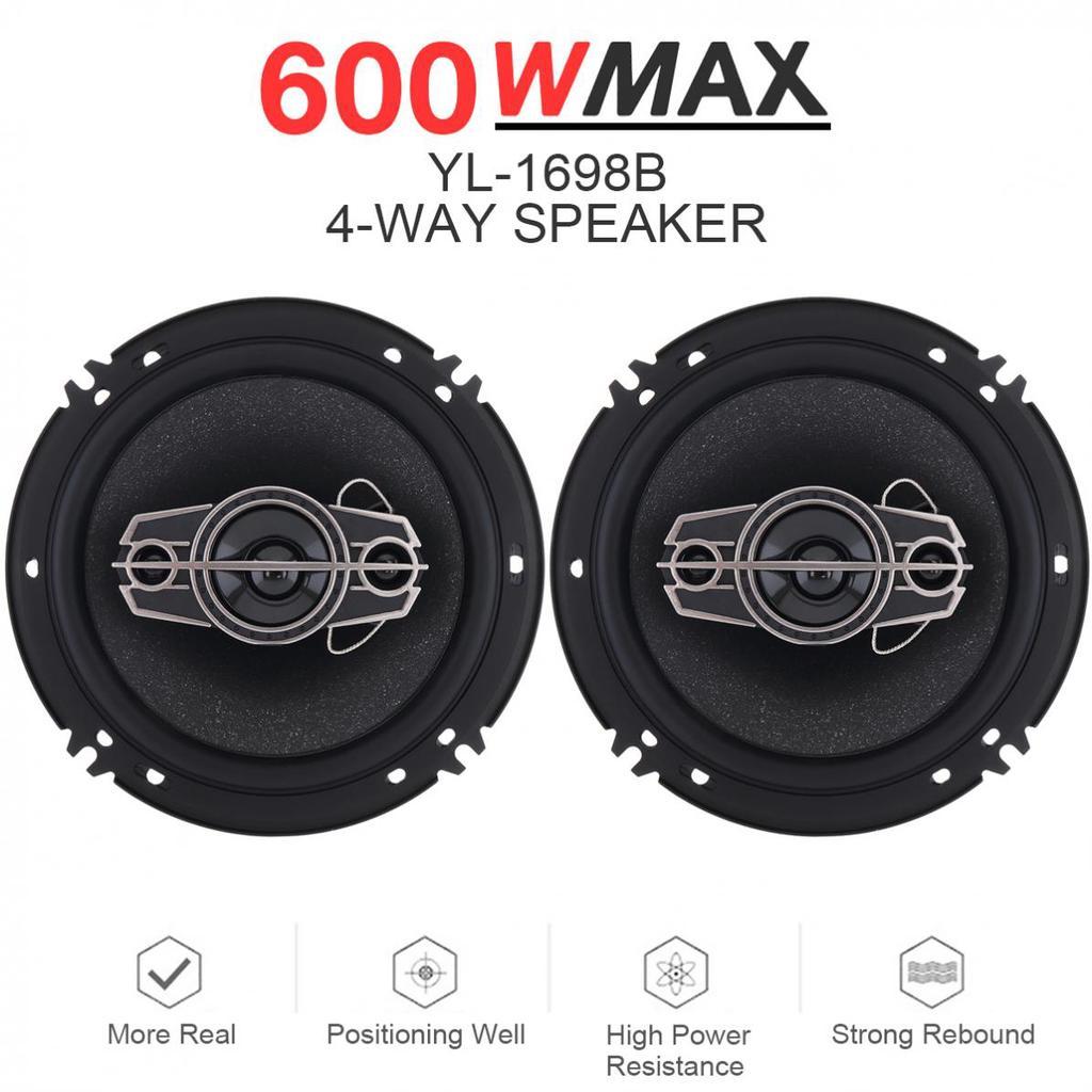 2x 40W 4Inch Car HiFi Coaxial Speaker Audio Music Stereo Full Range Speaker 12V