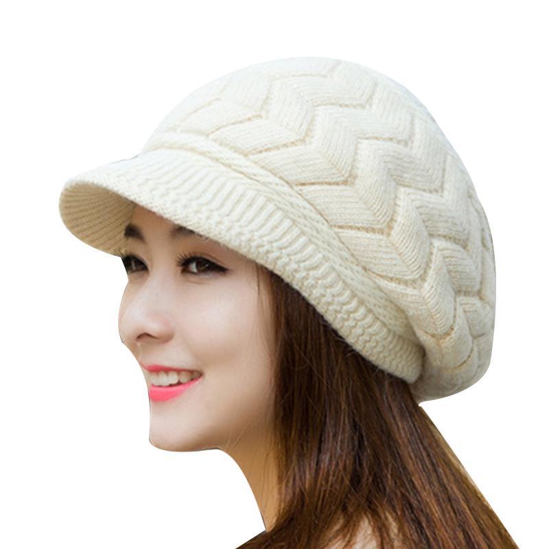 Moda sombrero gorro chicas Skullies tapas desgaste al aire libre ...