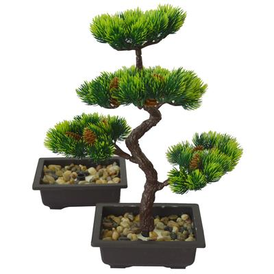 Artificial Bonsai Tree Fake Plant Decoration Potted Artificial House Plants Pine Bonsai Plant 36 Cm In Height for Home Decoration Desktop Display