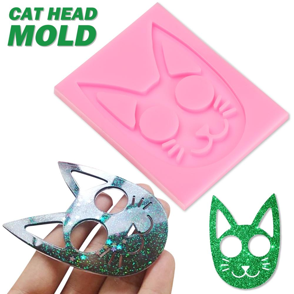 Personality Pendants Knuckles Ring Making Tool Key Chain Mold Cat Pattern