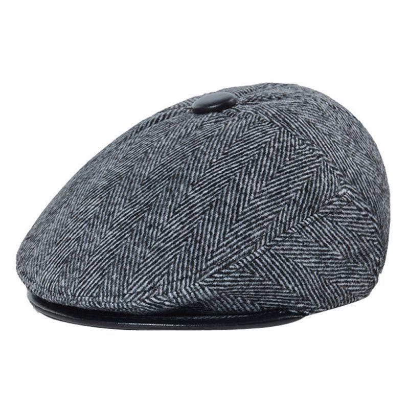 LL Spring Summer Bold Line Newsboy Caps Black