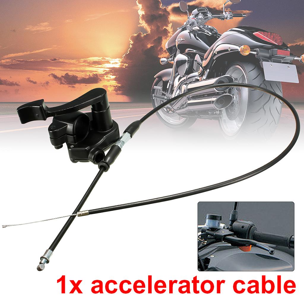 Universal Motorcycle 50-150cc 110cc Thumb Throttle Accelerator Cable Set For Mini Moto Quad And 4 Stroke Quads Atv Pit Bike Atv Parts & Accessories