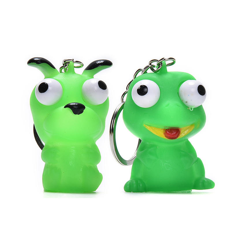 Bag Parts & Accessories 1pcs Mini Animal Anti Stress Ball Fun Antistress Extruding Big Raised Eyes Doll Squeezing Pandent For Bag Accessories Random