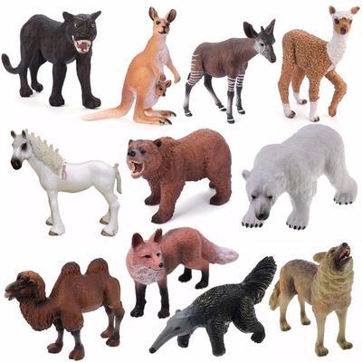 12pcs//kit Model Zoo Safari Figure Wild Animals Kids Toy