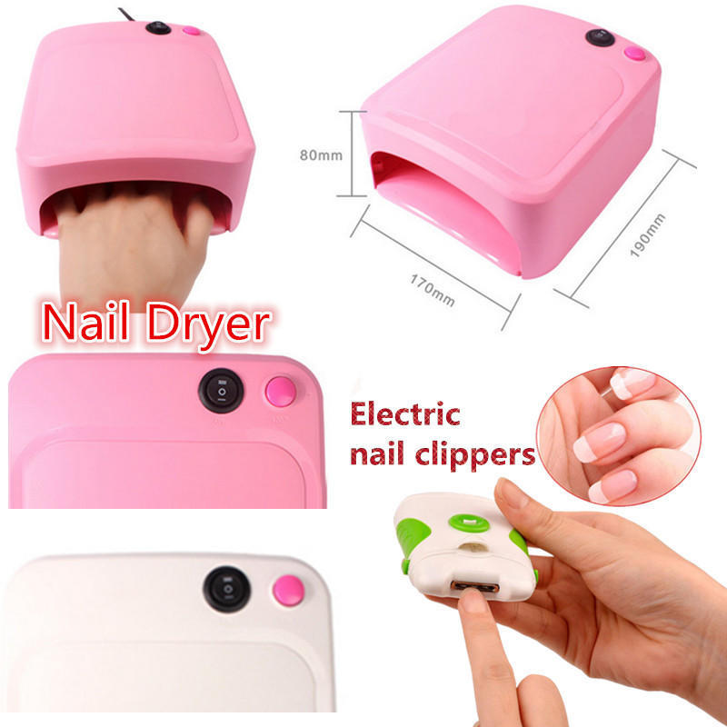 36W UV Lamp Light Nail Dryer Manicure Gel With Timer Electric Nail ...