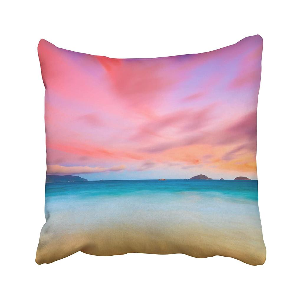 Blue Sunset Sunrise Over The Sea Con Dao Vietnam Beach Tropical Landscape Time Shore Pillow Case Cover 18x18inch 45x45cm Buy At A Low Prices On Joom E Commerce Platform