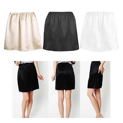 Skirt Petticoat Short Without Lace Length 40cm Ladies White Satin Petticoat
