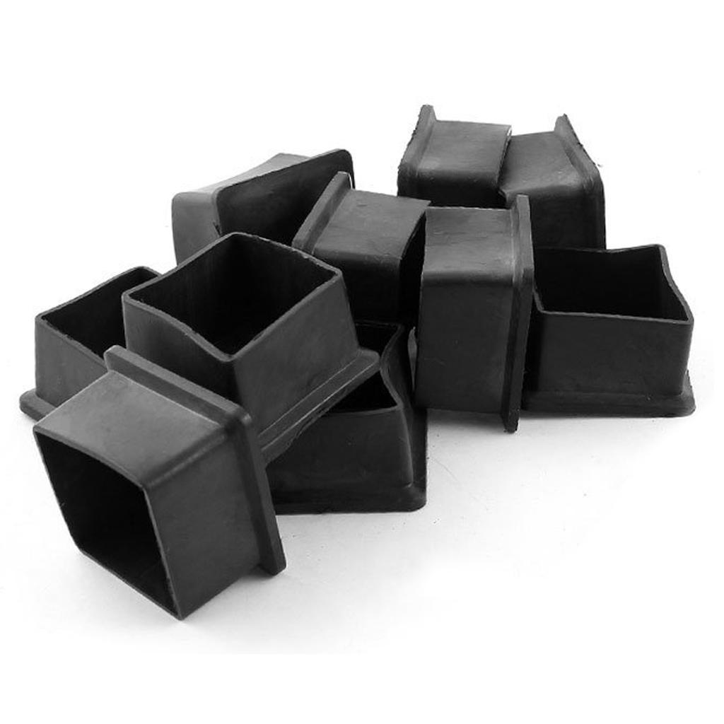 10mm Innen Durchm Rund Gummi Möbelbein Fuß Abdeckung Schützer 8 Stück